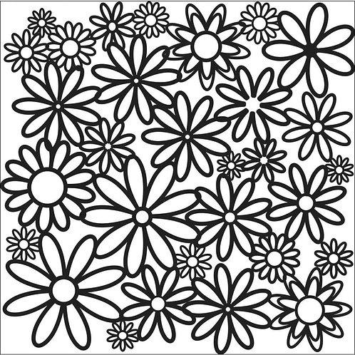 "TCW 12x12 Stencil ""Daisy Cluster"""