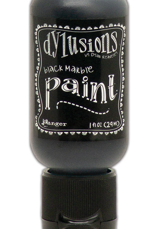 "Dylusions Paint Flip Cap ""Black Marble"""