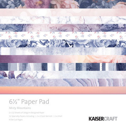 """Kaisercraft  6.5""""x 6.5"""" Paper Pad 24 pages """"Misty Mountains """""""