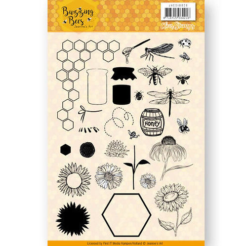 Buzzing Bees Clear Stamps