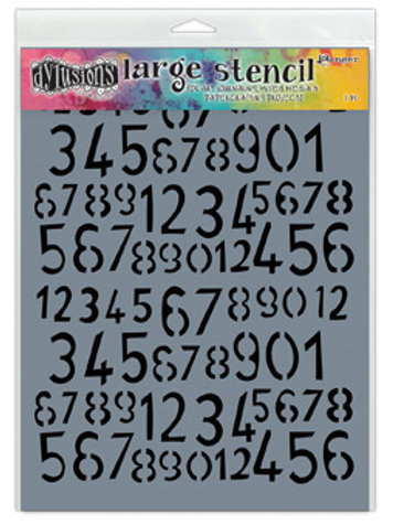 "Dyan Reaveley's Dylusions Stencils 9""X12"" -""Old School Numbers"""