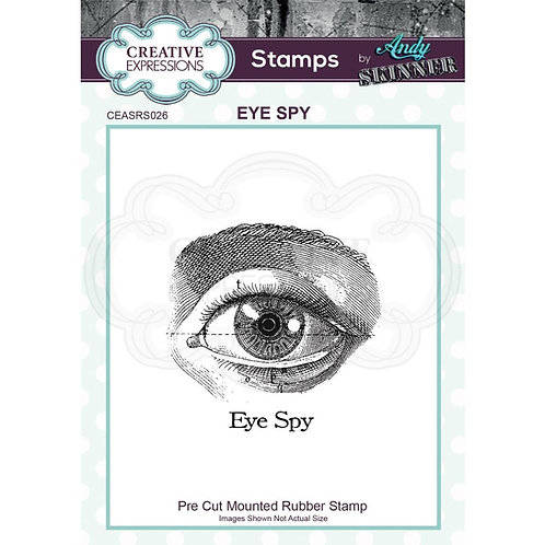"""Creative Expressions Rubber Stamp """"Eye Spy"""""""