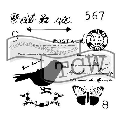 """TCW - 6x6 -  """"Mini Chickadee Post"""""""