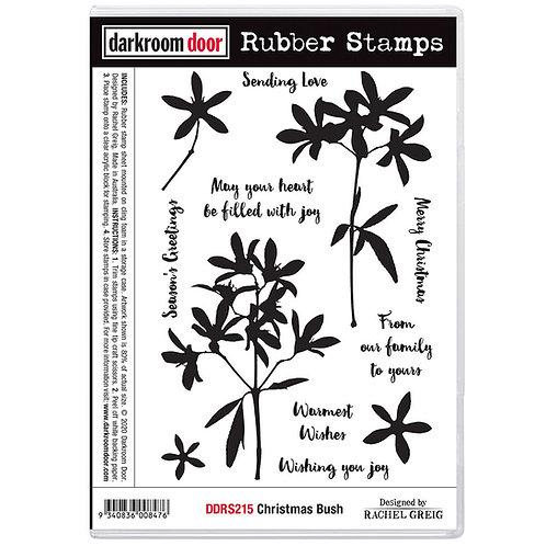 """Darkroom Door - """"Christmas Bush"""" Cling Rubber Stamp"""