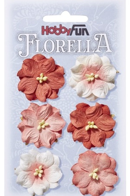 Hobby Fun Florella Mulberry Flowers 6 Pieces