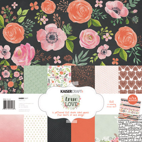 "Kaisercraft 12x12 Paper Pack with Bonus Sticker Sheet ""True Love"""