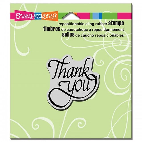 Thank You Stampendous Cling Mount Rubber Stamps