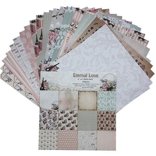 "6x6 inch ""Eternal Love"" Design Paper Pack"