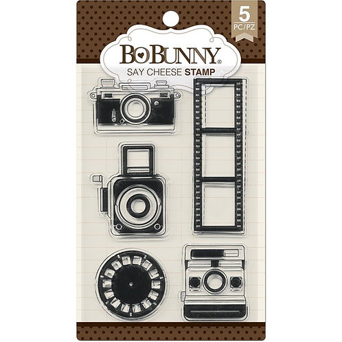 """BoBunny Clear Stamps 4""""X6"""" """"Say Cheese"""""""