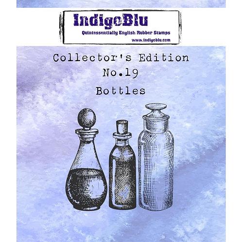 """IndigoBlu """"Bottles"""" 2"""" x 2"""" Rubber Stamp"""