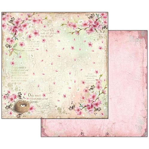 """Stamperia 12"""" x12"""" Paper  """"Flower Nest """" 1 Piece"""