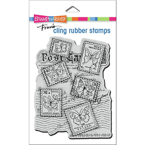 Butterfly Postage Stampendous Cling Mount Rubber Stamps
