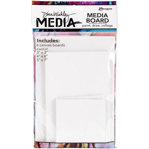 Dina Wakley Media Board Mixed Pack 6 Canvas Boards
