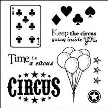 "ScrapBerry's Vintage Circus Clear Stamps 4""X4"" Cards"