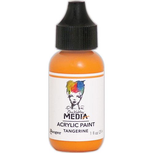 """Dina Wakley Media Acrylic Paint 1oz """"Tangerine"""""""