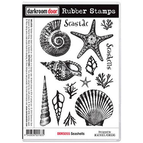 """Darkroom Door - """"Sea Shells""""  Rubber Stamp"""