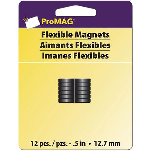 ProMAG  Flexible Magnets 12PCS  - 1/2 Inch