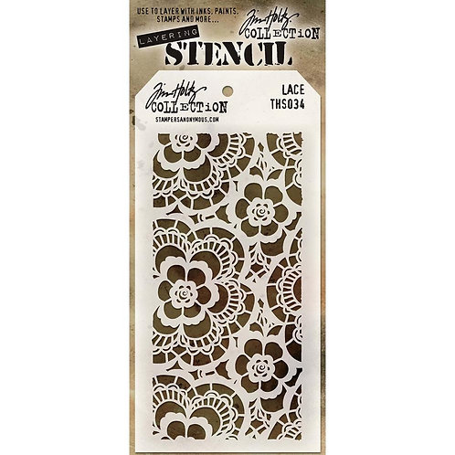 "Tim Holtz Layering Stencil ""Lace"""