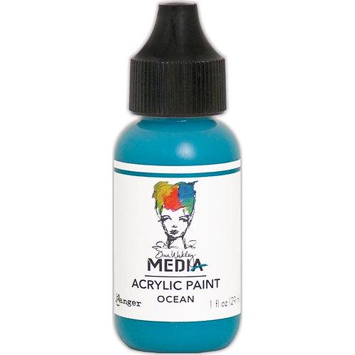 "Dina Wakley Media Acrylic Paint 1oz ""Ocean"""