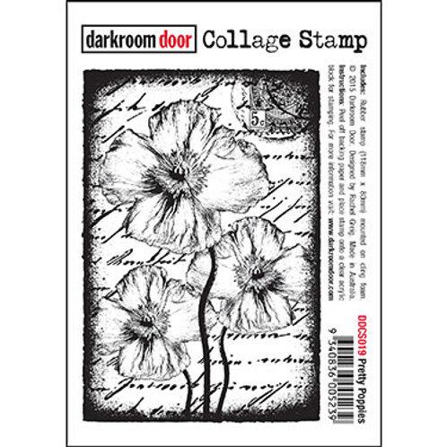 """Darkroom Door Collage Stamp - """"Pretty Poppies"""""""