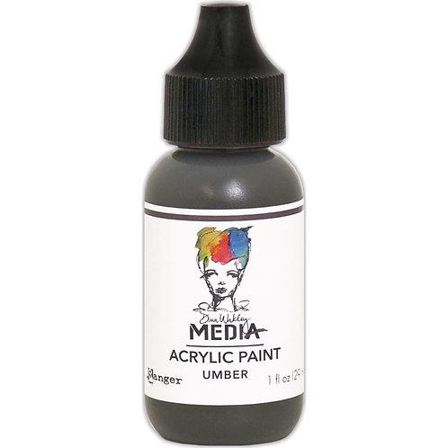 "Dina Wakley Media Acrylic Paint 1oz ""Umber"""