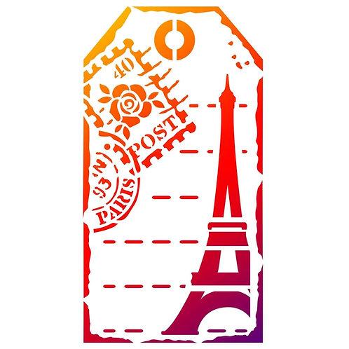 "Viva Decor Universal Stencil 5.83""X8.27"" ""Tag Paris"""