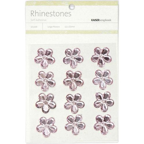 "KAISERCRAFT-Self-Adhesive Flower Rhinestones.12pcs ""Light Pink"""