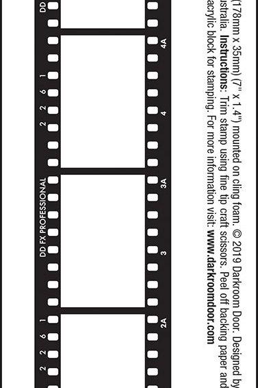 "Darkroom Door Filmstrip Stamp - ""Filmstrip"""