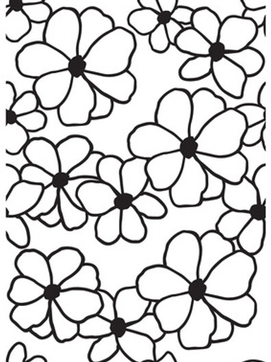 """Kaisercraft Embossing Folder """"Flowers"""" 4 x 6"""