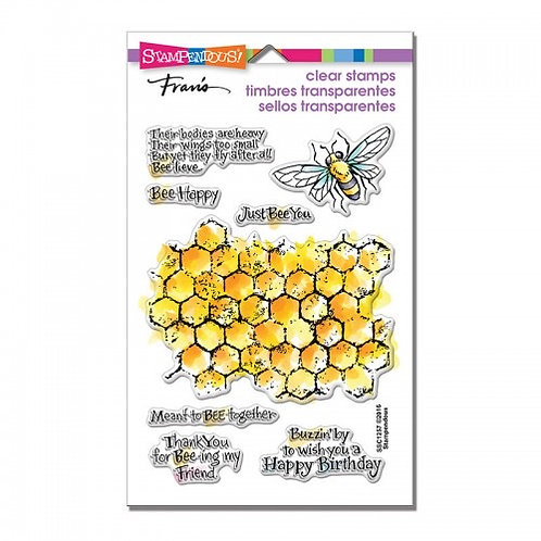 """""""Honeycomb Wishes"""" Stampendous Clear Stamps by Laurel Birch 4""""x6"""""""