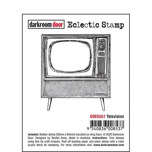"""Darkroom Door - """"Television"""" Eclectic Rubber Stamp"""
