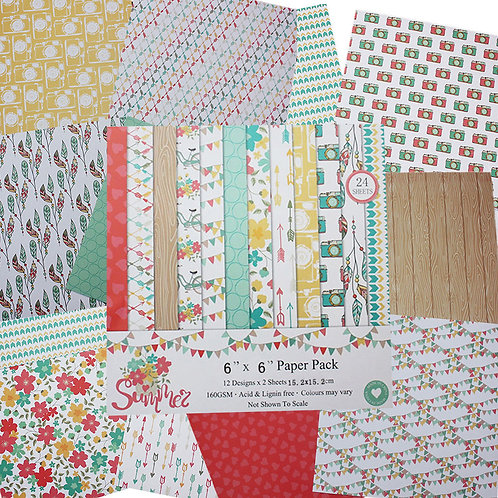 "6x6 inch ""Summer"" Design Paper Pack"