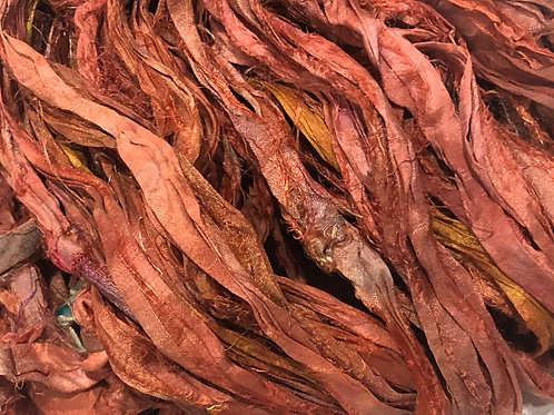 5M Sari Silk Coral Tones  (5Meters)