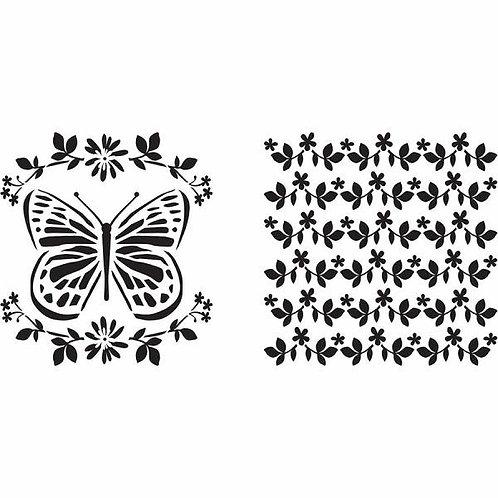 "Plaid Stencils 6x6 ""Butterfly"""