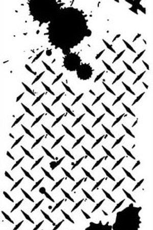Art Stencil Plastic Stencil - Check Plate 250X100mm