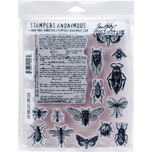 """""""Entomology"""" Tim Holtz Cling Stamps 7""""X8.5"""" by Stampers Anonymous"""