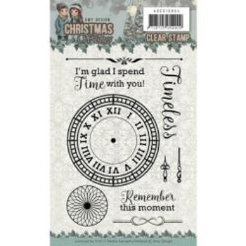 Find It Trading Amy Design Clear Stamps Clock 4X6