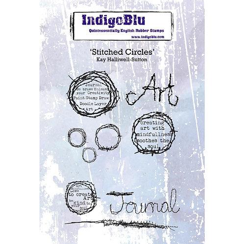 """Indigo Blu """"Stiched Circles"""""""