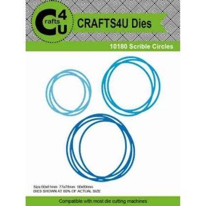 3 Scribble Circles Metal Cutting Dies