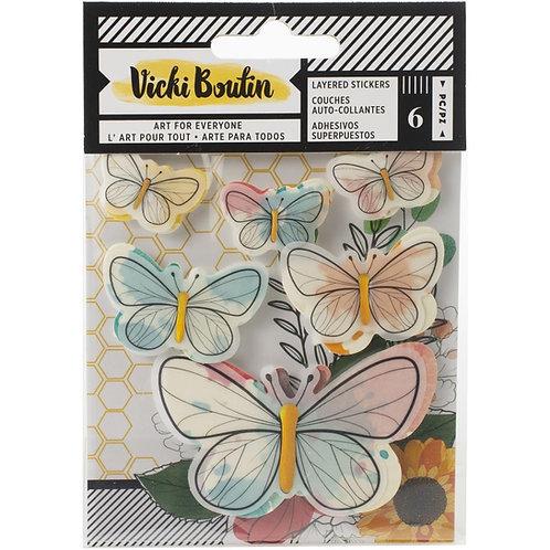 Vicki Boutin Wildflower & Honey Layered Stickers 6/Pkg