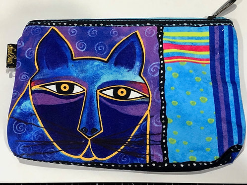 "#3 Laurel Burch Zipper Top 9""X1""X6"" Accessory Bag"