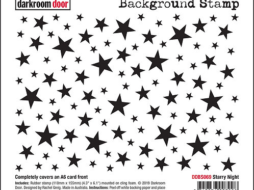"Darkroom Door - ""Starry Night""   Background Rubber Stamp"
