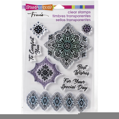 """""""Floral Diamond"""" Stampendous Clear Stamps by Laurel Birch 4""""x6"""""""