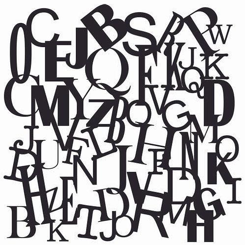 """TCW - 6x6 Stencil -   """"Mini Letters Collage"""""""