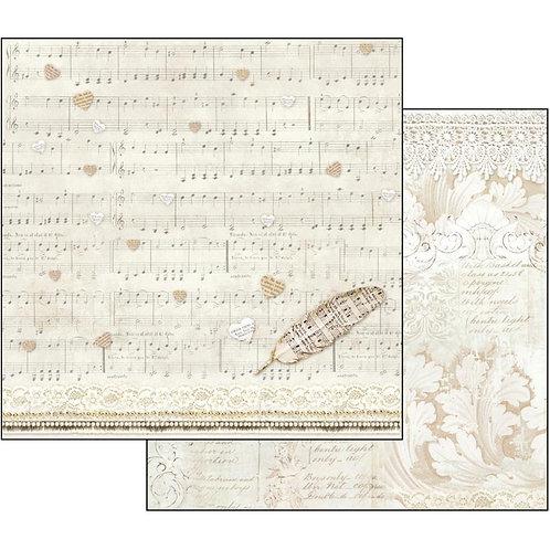 "Stamperia 12"" x12"" Paper   1 Piece"