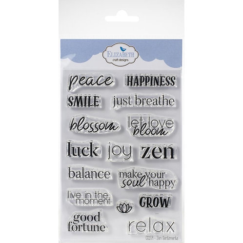 "Elizabeth Craft Designs Clear Stamps ""Zen Sentiments"""