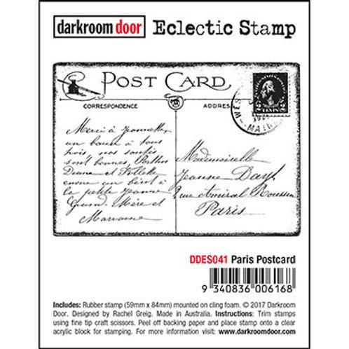 """Darkroom Door - """"Paris Postcard"""" Eclectic Rubber Stamp"""
