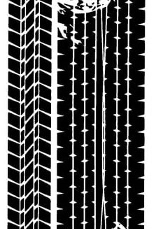 Art Stencil Plastic Stencil - Tread Marks 250X100mm