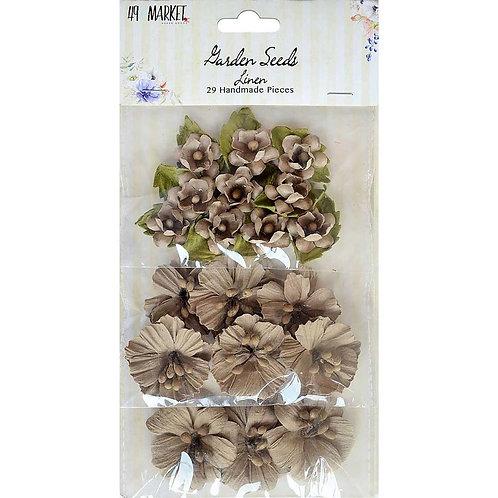 """49 Market Botanical Potpourri""""Linen"""" Flowers 49pcs"""