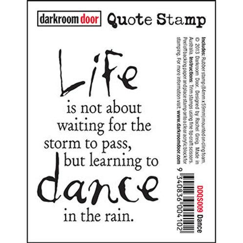 """Darkroom Door - """"Dance"""" Quote Rubber Stamp"""